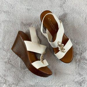Contesa Italian Shoemakers Sandal Wedge 7.5 🌿